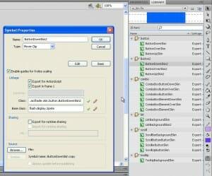 Propriétés des Sprite dans Adobe Flash